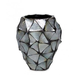 Pot Mother of Pearl Zilver D17 x H24 cm