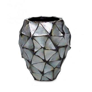 Pot Mother of Pearl Zilver D17 x H24 cm