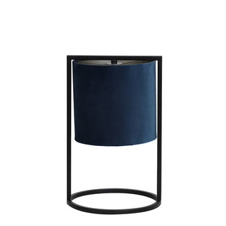 Tafellamp Santos zwart+kap petrol blauw