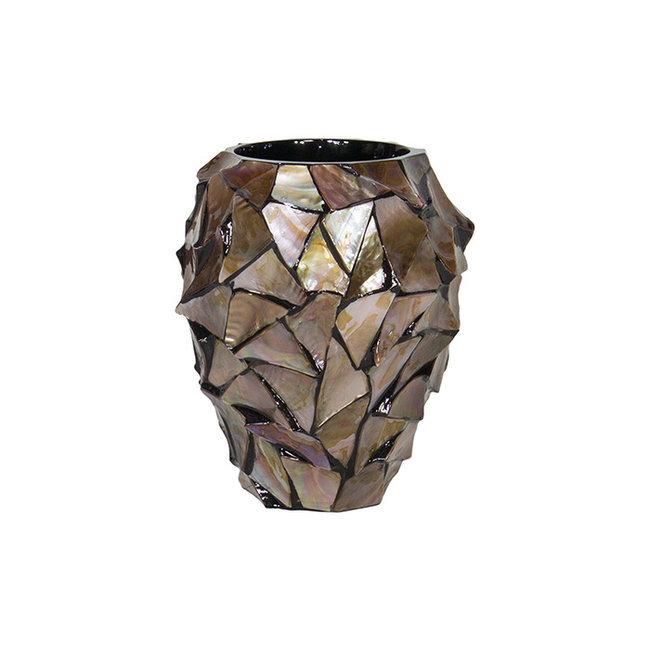 Pot Mother of Pearl Bruin  D17 x H24 cm