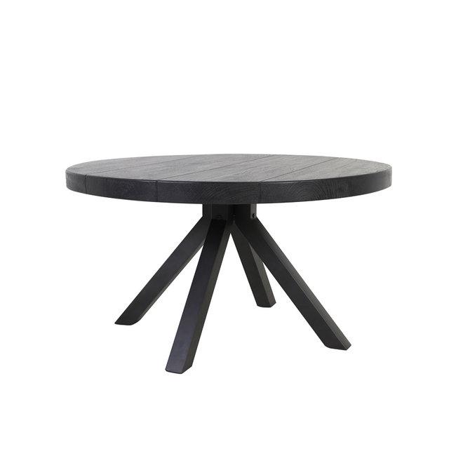 Light & Living Eettafel muden mango hout mat zwart