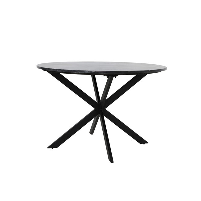 Light & Living Eettafel tomochi marmer zwart