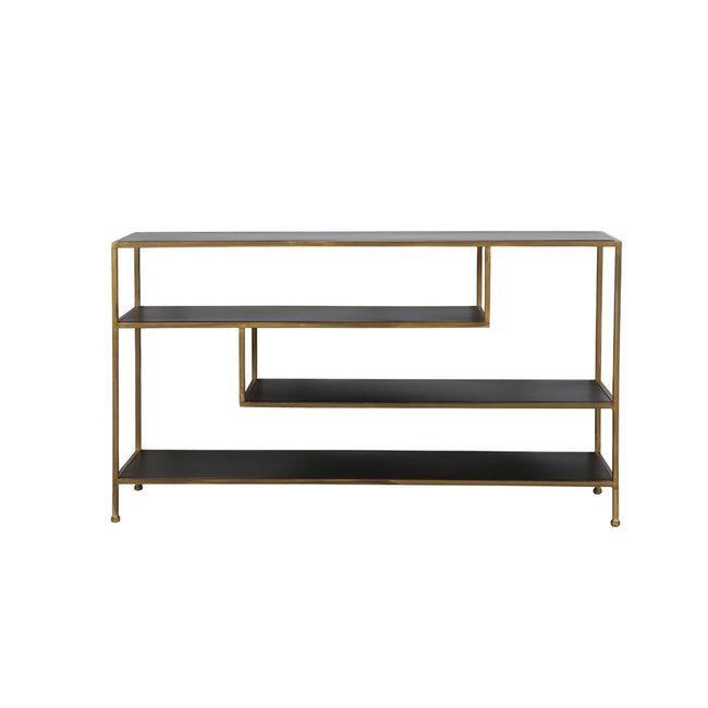 Light & Living Side table ylaya mat zwart goud