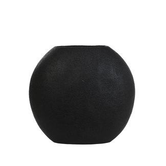 Light & Living Vaas rayskin mat zwart