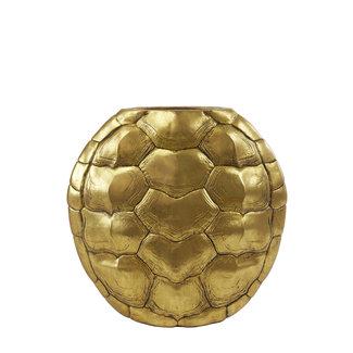 Light & Living Vaas turtle antiek brons