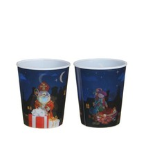 3D beker Sinterklaas zonder deksel en rietje 25st.