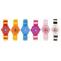 Houten armband 'horloge' 96st.