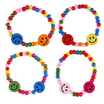 Houten armband Smiley 144st.