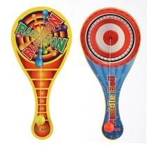 Plastic racket met bal 25st.