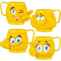 Kindereisbecher Mix Emoji gelb 36Stk.