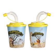 3D beker Jungle Dieren met gele deksel 100st.