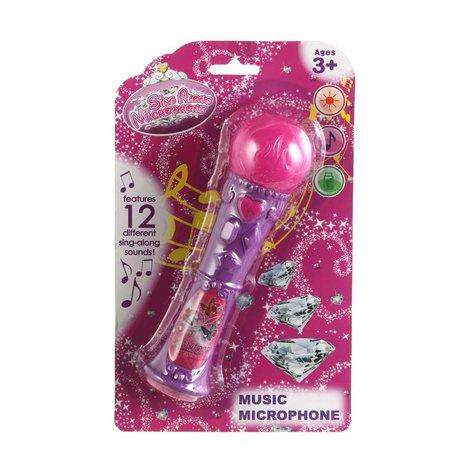 Microfoon met licht & geluid 12st.