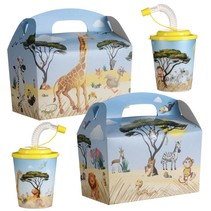 Menubox met 3D beker thema Jungle 100st.