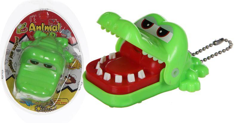 Bijtende krokodil spel met sleutelhanger 25st.