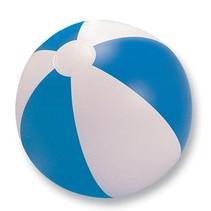 Opblaasbare strandbal streep blauw 24cm 50st.