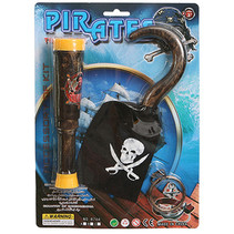 Piraten speelset verrekijker, haak & oorbel 24st.