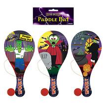 Houten racket met bal Halloween 24st.