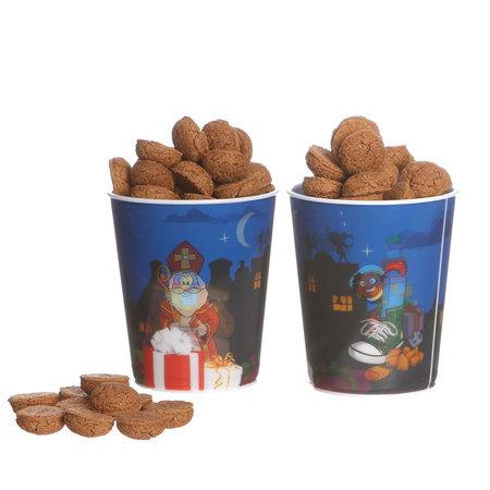 3D ijsbeker Sinterklaas zonder deksel en rietje 100st. €0,39p.st.  / bij afname van 500st. €0,37p.st.