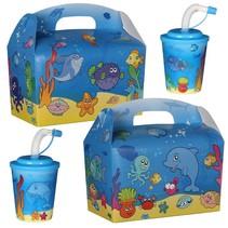 Kindermenübox mit Trinkbecher Fische 100Stk.