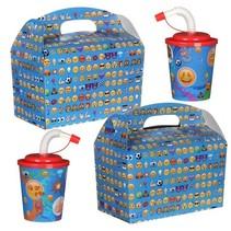 Kindermenübox mit Trinkbecher Emoji 100Stk.