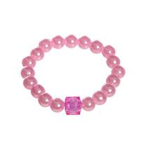 Parel armband roze 75st.