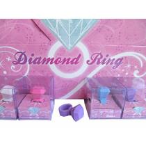 Gum diamanten ring 24st.