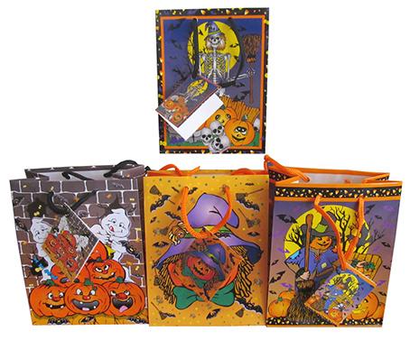 Uitdeeltasje met kaartje Halloween 120st.