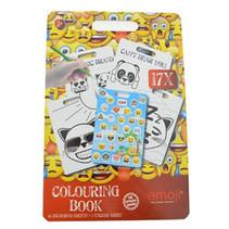 Kleurblok met stickers Emoji 30cm 60st.