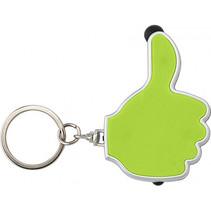 Sleutelhanger OK groen met licht 100st.