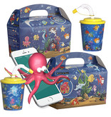 Interactieve Kidsbox met 3D beker thema Oceaan 100st. á €0,76 / bij afname van 300st. €0,68 per set