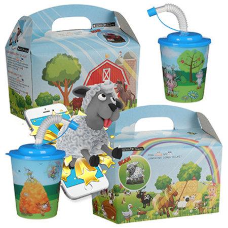Interactieve Kidsbox met 3D beker thema Boerderij 100st. á €0,76 / bij afname van 300st. €0,68 per set