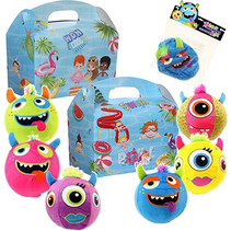 Menubox poolparty & pluche monsterbal 48st.
