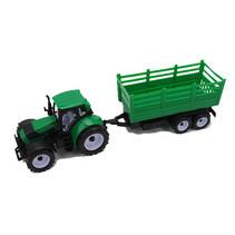 Frictie tractor met aanhanger 38cm 12st.