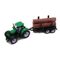 Tractor met  boomstammen 38cm 12st.