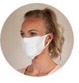 Mondmasker wasbaar met ruimte voor filter wit 20st.