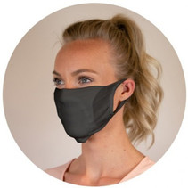 Mundschutzmasken  Waschbar Schwarz 20Stk.