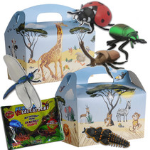 Menubox Jungle met mega insect 50st.