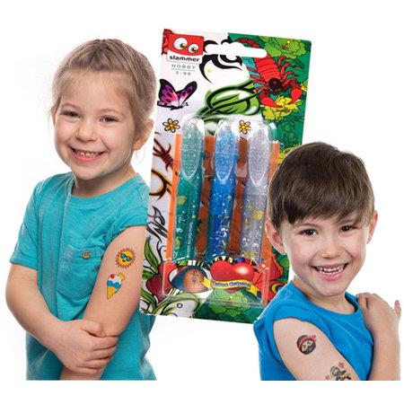Slammer Tattoo gel pennen 3-delig 12st.