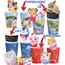 IJsbekermix+squeezy ijsje+ijsbakje 100st.