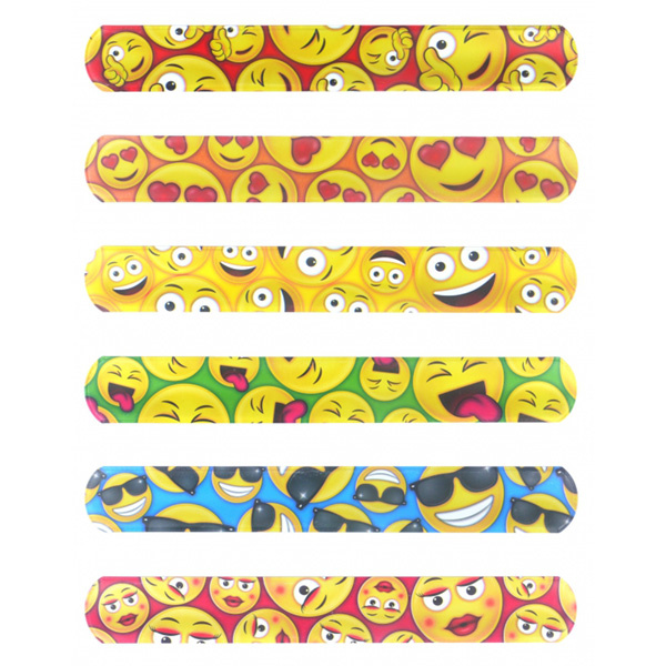 Snap-on armband  Emoji/Smiley 120st.