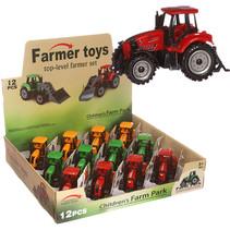 Tractor miniatuur 10.5cm 12st.
