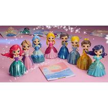 Prinses met magische clip jurk 9st.