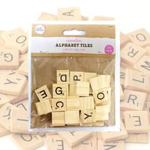 Buchstabenwürfel aus Holz (30) Scrabble 24Stk.