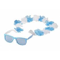 Spaßbrille mit Blumenkette 50Stk.