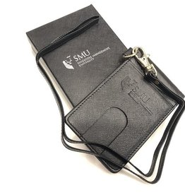 Namecard Holder Genuine Leather Passholder with Lanyard