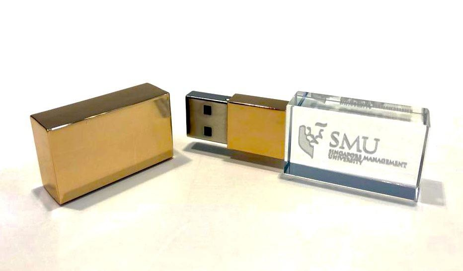 Thumbdrive 32GB Crystal Drive, GOLD