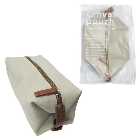Toiletries Bag 16oz Canvas Pouch