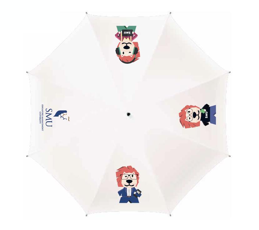 Umbrella Smoo Foldable UV Umbrella, White