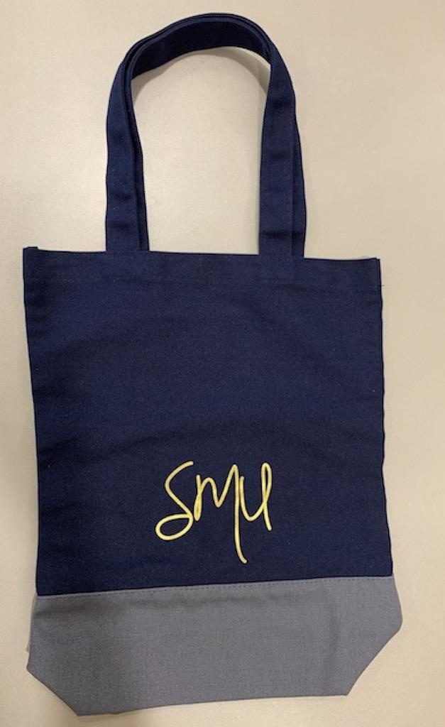Tote Bag Canvas Totebag, Blue & Grey