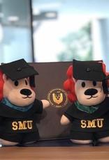 "Graduation Bear Smoo Smoo Graduation Plush 8"", Maroon"